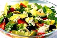 Salad with avocado and feta cheese 153.71 kkal | ladiesboxx