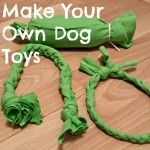 Luna and I make three different DIY dog toys by recycling old t-shirts and water bottles. M is for Make Your Own Dog Toys.  #atozchallenge #beaglesandbargains http://www.beaglesandbargains.com/diy-dog-toys-atozchallenge/