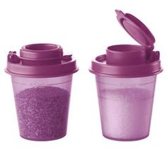 Tupperware | Midgets® Salt and Pepper Shakers - $5  Perfectly portable flavor!  Spice up Mom's life with these classic, portable favorites. Bring salt and pepper along on springtime picnics or have them handy during daily, on-the-go lunches. www.my2.Tupperware.com/jkchilders