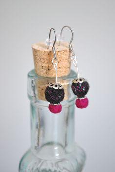 Fun needle felted earrings with metallics!  https://www.etsy.com/shop/ArtByBarks