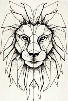 Иринино ининени em 2019 lion drawing, geometric lion e drawings. Geometric Lion Tattoo, Geometric Drawing, Geometric Painting, Geometric Art, Geometric Animal, Geometric Designs, Lion Origami, Art Sketches, Art Drawings