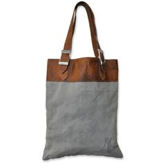 Recycled Canvas Leather Bag (India) - Overstock™ Shopping - Top Rated Cottage Home Tote Bags