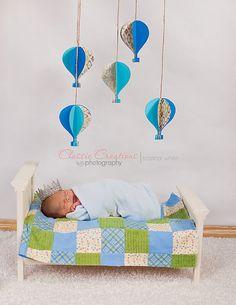 Newborn bed photo prop off white by VintageRosebyCC on Etsy, $63.00