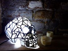 https://vk.com/bumburg skull lamp nightlight stained glass handmade you can order