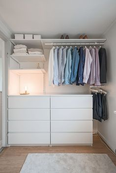 Attic Storage, Ikea Makeover, Walk In Closet Ikea, Bedroom Interior, Closet Bedroom, Home Goods, Bedroom Decor, Aesthetic Room Decor, Room Ideas Bedroom