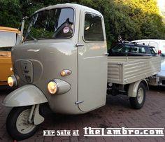 Lambro 550 for sale in England Classic Motors, Classic Cars, Weird Cars, Crazy Cars, Vespa Ape, Piaggio Ape, Hot Rod Trucks, Daihatsu, Car Wheels