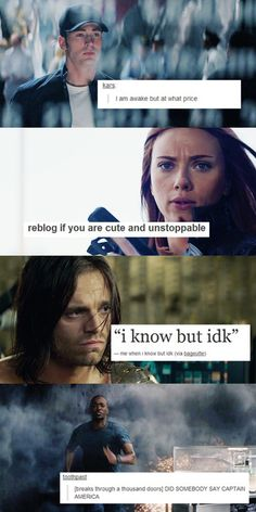 Captain America : The Winter Soldier + Tumblr :)