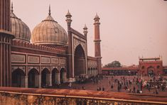 Jama masjid the largest mosque of india. Jama Masjid, Taj Mahal, Islam, Around The Worlds, India, Spaces, Architecture, Building, Travel