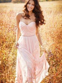 Charming Sweetheart Prom Dress,Chiffon Prom Dress,Long Evening Dress,Formal