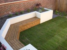 Outdoor living with modern outdoor bench inspiration #OutdoorBench #Siting #LivingGarden #BenchIdeas