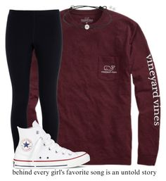 """""""❤️"""" by kreeves7 ❤ liked on Polyvore featuring Vineyard Vines, NIKE, Converse and Carolee"""