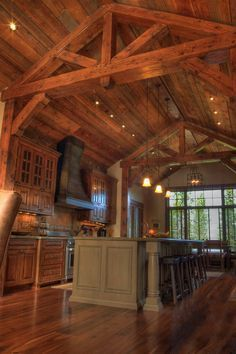 B & B Builders My DREAM kitchen, but we won't have high ceilings in kitchen...