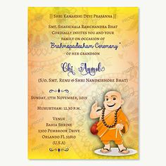 20 Best Upanayana Images Invitations Invitation Cards Cards
