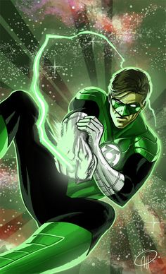 Hal Jordan deep space fight - I like how the foreground and background mesh.