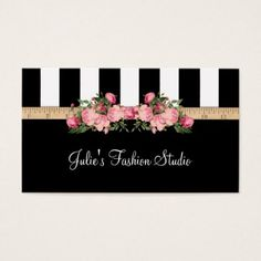 Fashion Studio Sewing Model House Business Card - beautiful gift idea present diy cyo Beauty Business Cards, Simple Business Cards, Business Card Design, Loyalty Card Template, Place Card Template, Deer Wallpaper, Visiting Card Design, Floral Logo, Beauty Logo