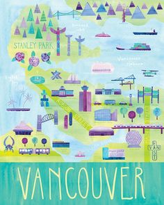 Illustrated Vancouver map
