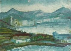 "Childhood painting by Salvador Dali: ""Cadaques"" (1917)"