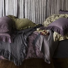 Bella Notte Linen at Chintz & Company.  yummy colours and textures, although a bit cool for my taste