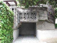 Lloyd Wright Home and Studio Hollywood California, West Hollywood, Wayfarers Chapel, Hollyhock, Frank Lloyd Wright, Design Patterns, Indoor Outdoor, Jr, Outdoor Structures