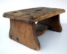 Benches & Stools Strict Antique Old Primitive Wood Wooden Painted Black Top Spool Foot Footstool Stool To Assure Years Of Trouble-Free Service
