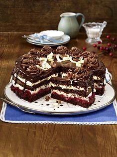 Unser beliebtes Rezept für Schoko-Himbeer-Torte und mehr als 55.000 weitere kostenlose Rezepte auf LECKER.de.