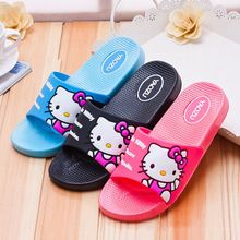 Hello Kitty Indoor household slippers Male and female style There are three colors of blue, black, pink, and you can choose(China (Mainland))