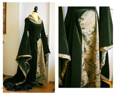 Eowyn Green Gown - The Lord of the Rings Costume Dress – Volto Nero Costumes