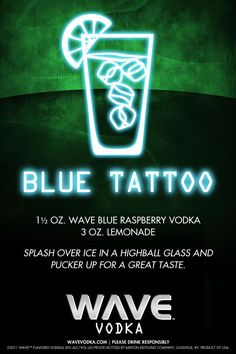 Tattoo your taste buds with a Blue Tattoo. Here's the recipe.