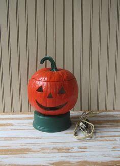 Lighted Pumpkin Jack o Lantern Vintage 60s by VintageSouthernPicks