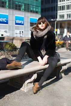 (Great shoes) bryant park, nyc street style