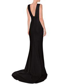 TQ8K8 Stella McCartney Plunging Sleeveless Godet Gown