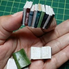 Make miniature books from your old magazines using these simple steps. Find a magazine that is as thick a Make miniature books from your old magazines using these simple steps. Find a magazine that is as thick as a miniature book. Miniature Crafts, Miniature Houses, Miniature Dolls, Diy Dollhouse Miniatures, Dollhouse Miniature Tutorials, Diy Dollhouse Books, Dollhouse Dolls, Doll House Crafts, Doll Crafts