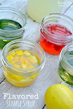 Flavored Simple Syrup recipe - makes a delicious addition to lemonade, iced tea, or any of your favorite beverages!  www.lemontreedwelling.com