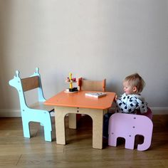 SAVE £10.00 ON THIS BUNDLE DEAL!  With this fabulous deal you can get one toddler elephant chair and one giraffe/ whale chair and a table and save £10.00