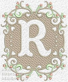 Free Embroidery Design: Letter R