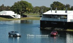 """Floating"" #cars at #Doral #CadillacChamp"