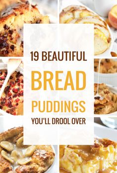 19-beautiful-bread-puddings-youll-drool-over Bread Pudding Sauce, Custard Pudding, Banana Pudding, Bread Pudding Recipes, Healthy Bread Puddings, Rice Puddings, Pudding Pies, Vanilla Sauce, Flan