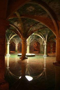 Underground cistern, Istanbul (ancient Constantinople), Turkey
