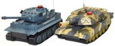 Zestaw wzajemnie walczących czołgów German Tiger i Abrams RTR 1:32
