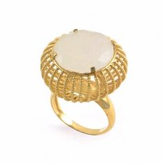 """""""Cage"""" moonstone ring by Assya London - Covet Chic"""