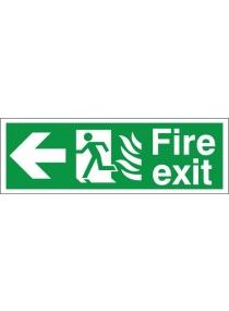 hospital signage | ... Warning Signs > General Safety signs > Hospital Fire Exit Left Sign