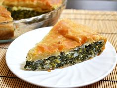 Phyllo dough makes this rich and delicious spinach pie a breeze to prepare. Perfect for breakfast, lunch, or brunch! Step by step photos.