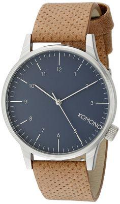 Komono - KOM-W2000 - Montre Homme - Quartz - Analogique - Bracelet Polyuréthane marron: Amazon.fr: Montres
