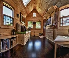 Architecture Modern Mobile Homes Tiny House And Mobile Home Decorating Ideas Awesome Picture of Modern Mobile Homes With Decoration Ideas Tiny House Movement, Small Houses On Wheels, Interior Photo, Interior Ideas, Interior Design, House Inside, Tiny House Living, Living Room, Tiny Spaces