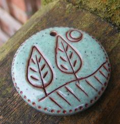 Faux Ceramic Pendant  Trees by pipsjewellery on Etsy, $7.00 - love it!