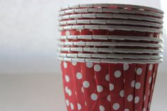 25 Pack of Bold Red Nut or Candy Portion Cups by moieti on Etsy