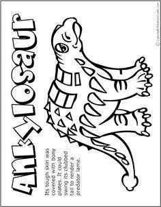 Free Kids Crafts - Coloring page dinosaur