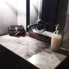 Carrera + Powder Room + Herb Box Scottsdale + Integrated Sink + Marble + Handbag + Marc Jacobs