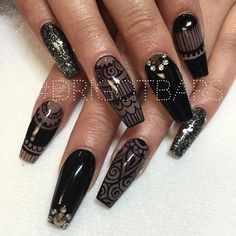 Lovely Coffin nails KorTeN StEiN💀 The post Coffin nails KorTeN StEiN💀… appeared first on Nails . Sexy Nails, Hot Nails, Fancy Nails, Black Nails, Fabulous Nails, Gorgeous Nails, Pretty Nails, Nagel Bling, Creative Nails