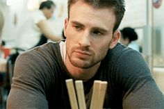 "Chris Evans as Nick Gant in ""Push"" << first movie i saw him in and thought, I'm attracted to shoulders?"